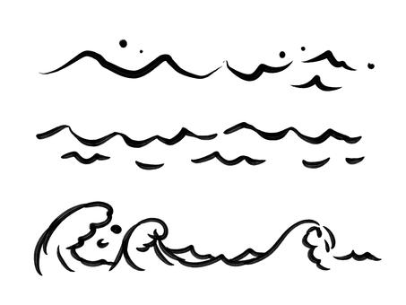 Brush-style wave