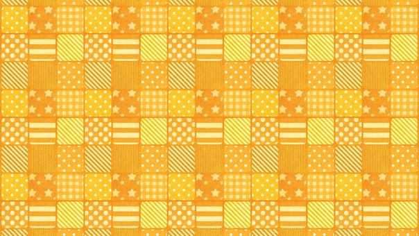 Dot check orange background wallpaper