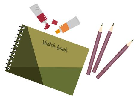 Sketchbook and pencil illustration