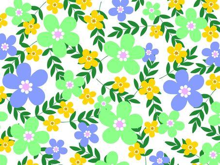 Scandinavian style flower background material 02 / green