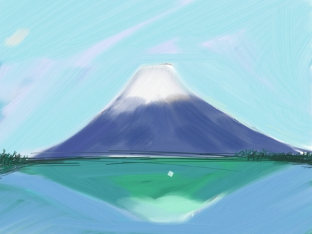 Mount Fuji in the lake