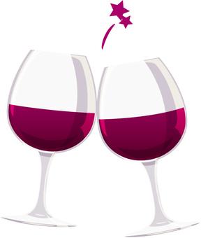 와인 _ 건배