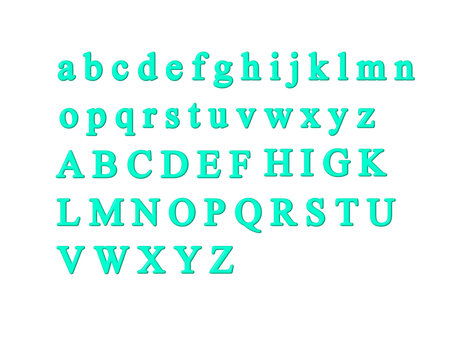少し立体的なアルファベットの詰め合わせ