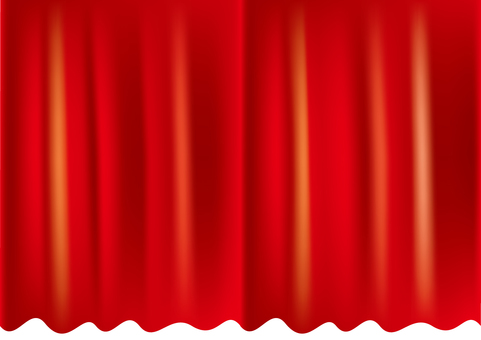 Stage curtain _ red