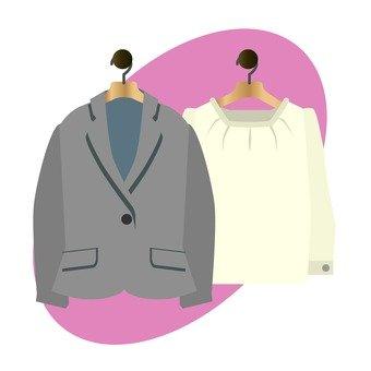 Women's suit jacket and cut