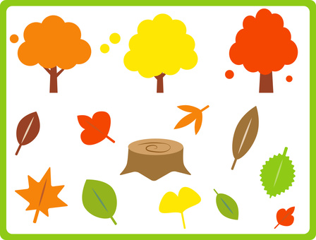 Fall leaf material