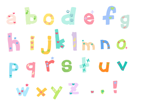 Characters - Lowercase alphabet 2