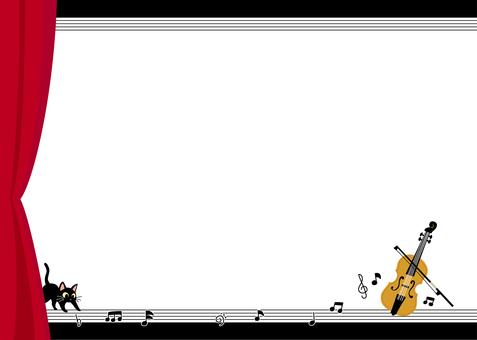 바이올린 카드 (블랙)