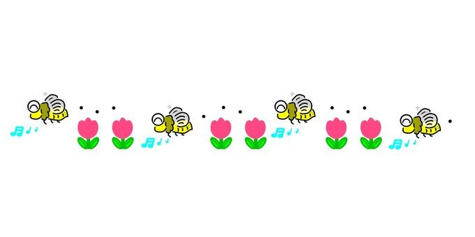 蜜蜂和郁金香