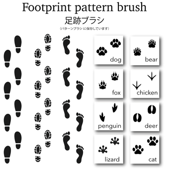 Footprint brush