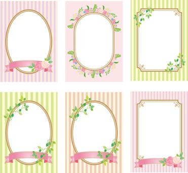 Flower decoration frame A4 size set