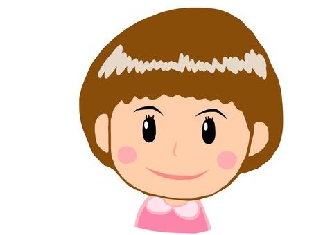 Girls brown hair