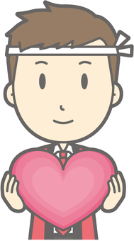 Male Happy a-Heart - Bust
