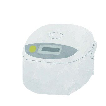 Hand drawn style rice cooker