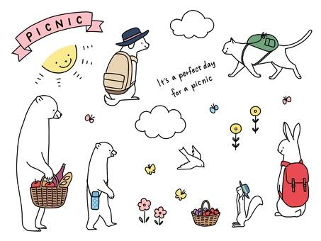 動物たちのピクニック