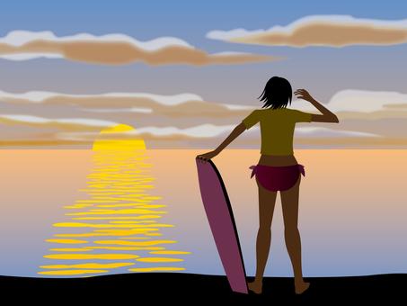 서핑 소녀