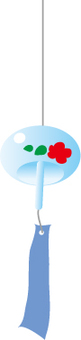 Glass wind chimes floral design