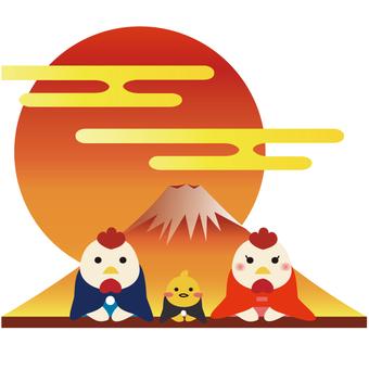 Fuji and birds