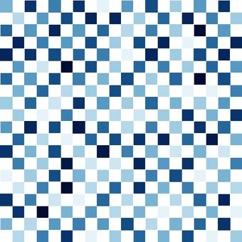 모자이크 무언가 파랑