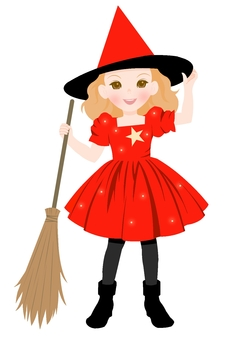 Witch's costume red