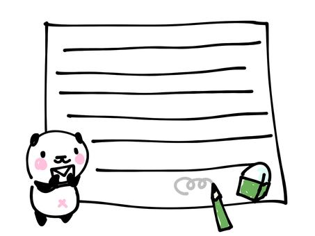 ぱんだのお手紙フレーム
