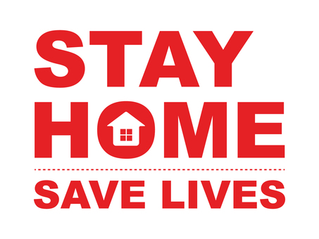 Stay home STAY HOME (red)