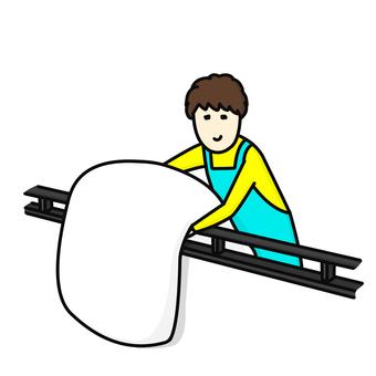 Dry the futon