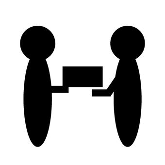 택배의 이미지 (사람 · 그림자)
