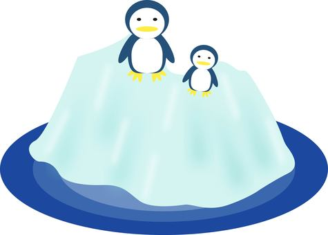 Penguin and iceberg