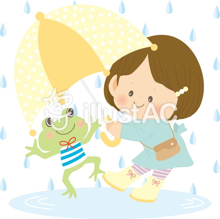 雨降りのイラスト