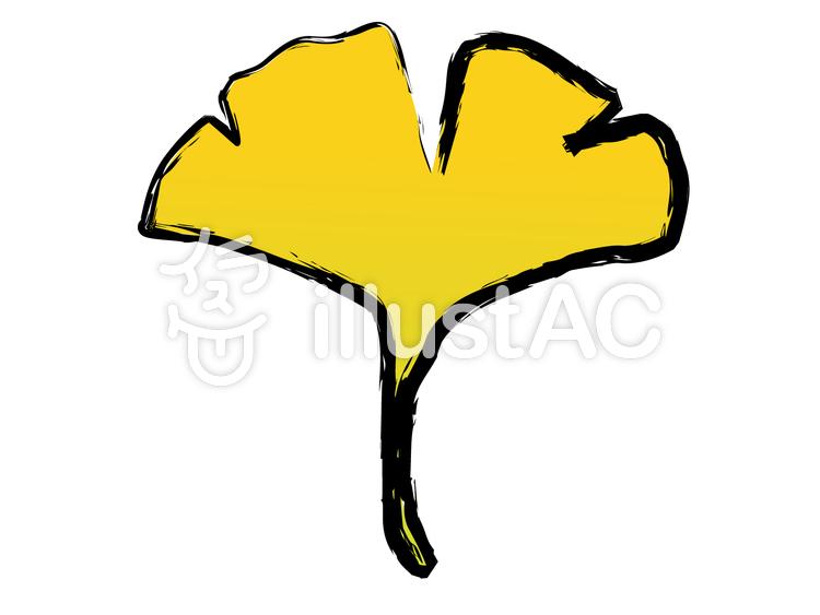 和風素材 イチョウの葉 いちょう 銀杏イラスト No 604240無料