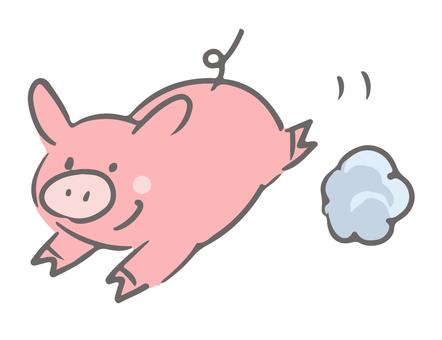 Cheerful pig Ton