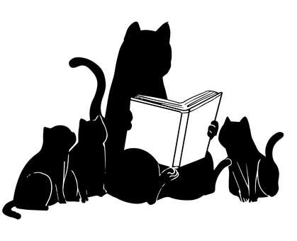 Let's read the black cat silhouette