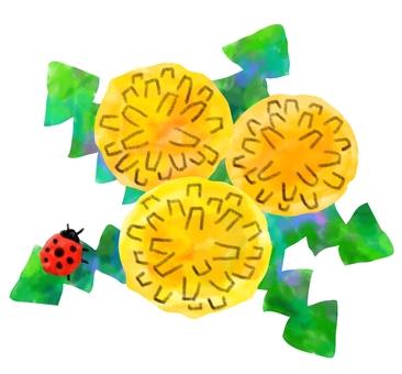 Dandelion and ladybug