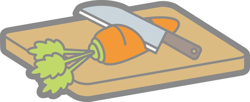 菜板和菜刀(蔬菜)