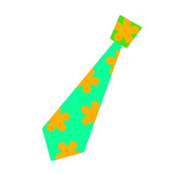 Tie · floral design