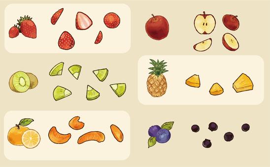 Cut fruit set