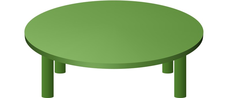 Round table (green)