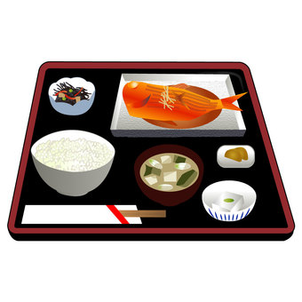 Snacks set with golden sea bream