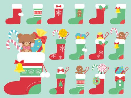 Christmas socks filled