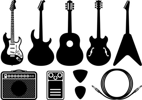 Guitar Electric Acoogy Silhouette Set