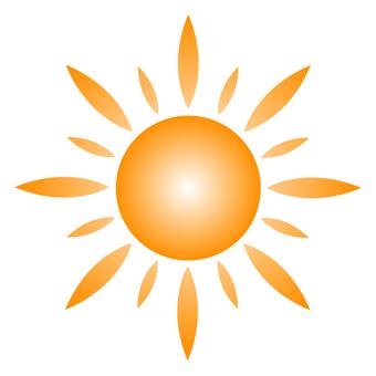 The sun 7 gradation