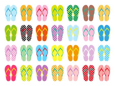 Various sandals