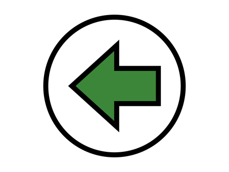 Arrow direction guidance shape green