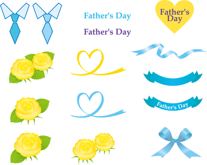 Free illustration yellow rose Father's Day material