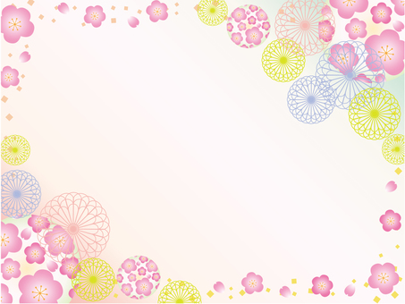 Japanese paper _ flower pattern _ plum
