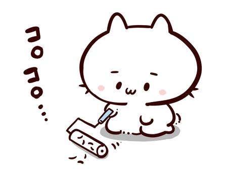 A cat that rolls