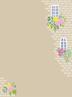Flower postcard by the window 04