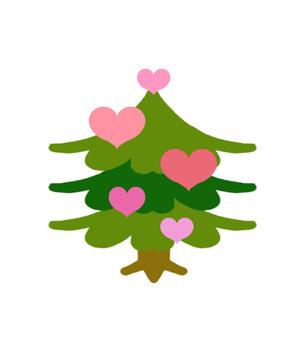 Heart's coniferous tree