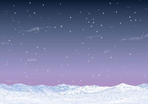 Winter image Snowball starry sky
